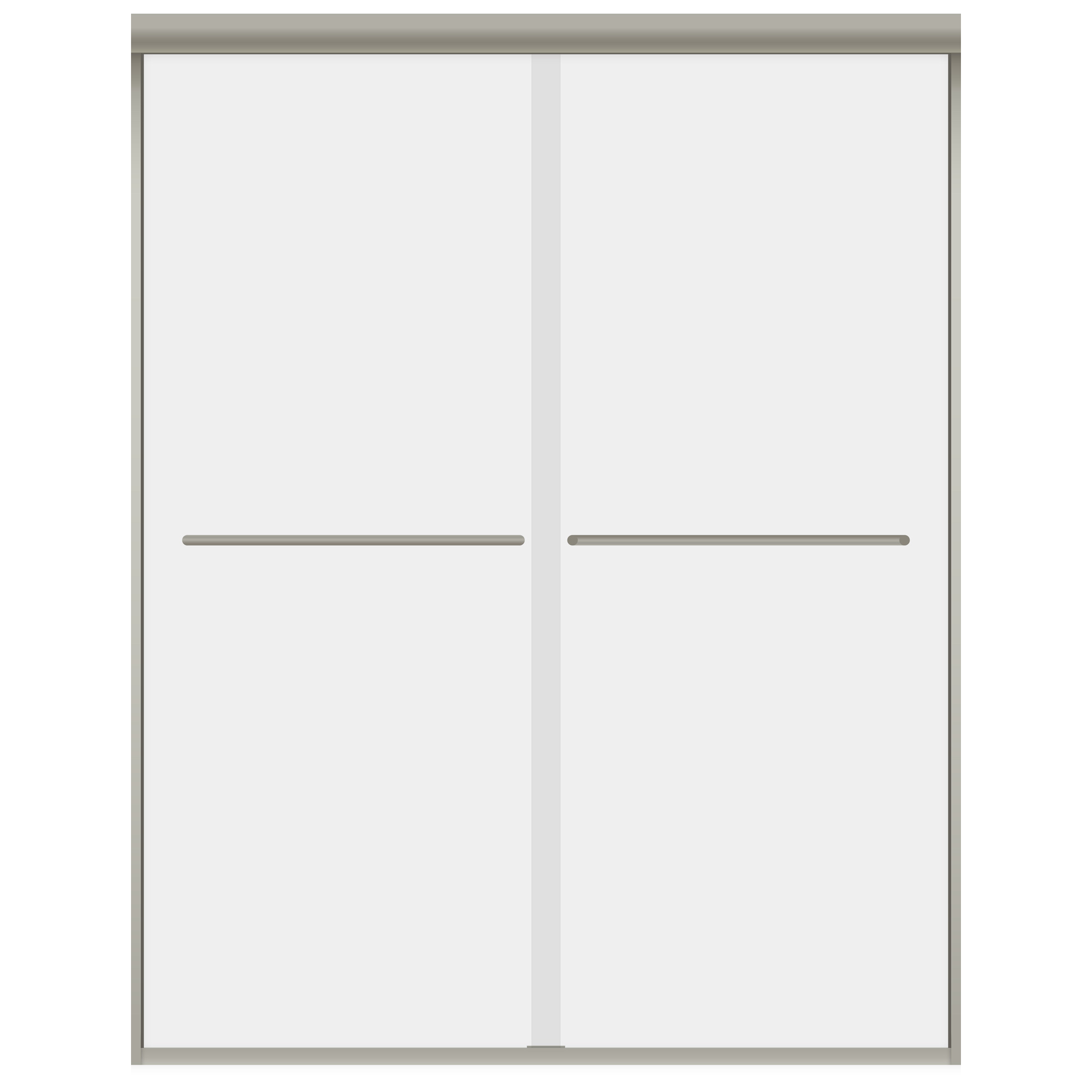 Lesscare clear glass shower door ultra b 44 48 wide x 76 high chrome - 44 48 W X 76 H Bypass Shower Door Brushed Nickel Ultra A Lbsda4876 B By Lesscare