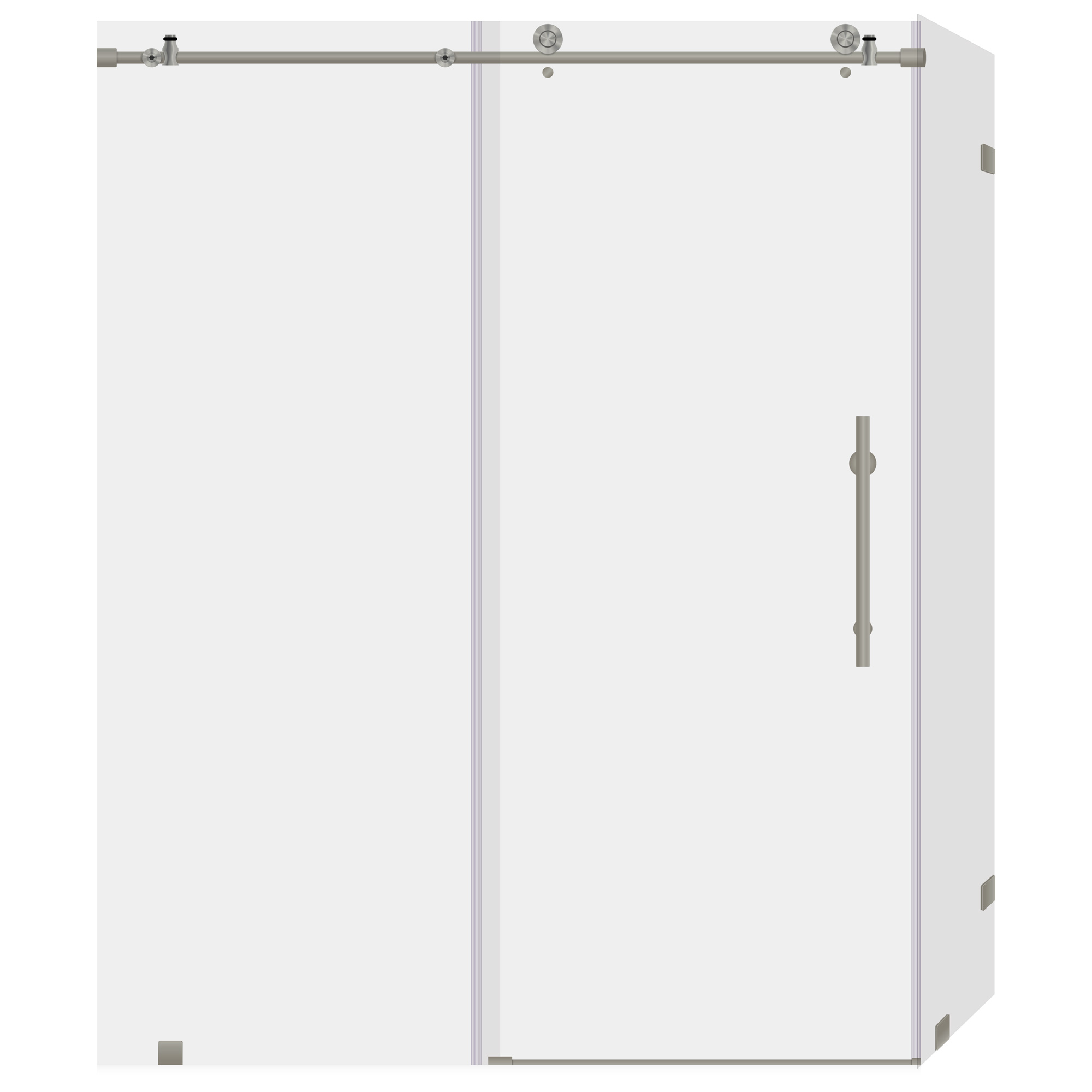 Lesscare clear glass shower door ultra b 44 48 wide x 76 high chrome - 44 48 W X 76 H X 34 5d Shower Enclosure With Sliding Door Chrome Ultra C Lbsdc4876 B Lbsec34576 Cb By Lesscare